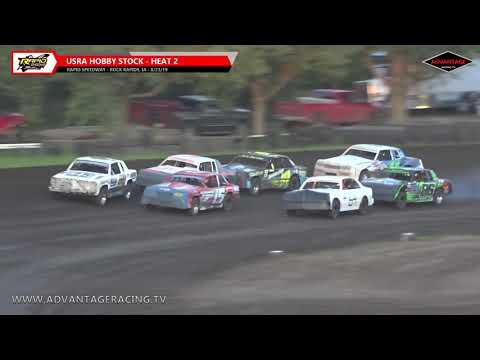 Hobby Stock Heats - Rapid Speedway - 8/23/19