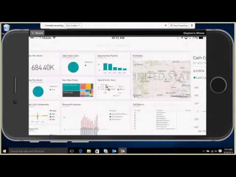 Microsoft Dynamics 365 for Financials on a Mobile Device Demo