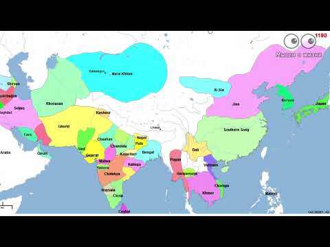 Как менялась Индия, вся Азия и Ближний Восток с 600 по 2019 гг. н.э. Границы!