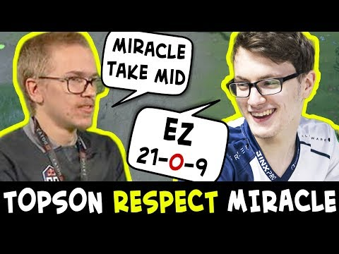 Topson RESPECTS Miracle — gives mid to TI7 winner EZ game