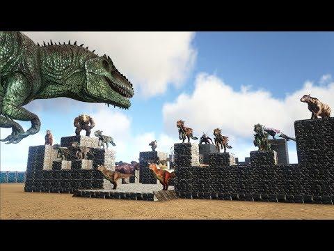 Giganotosaurus VS ARK Dinosaur Fortress   Cantex