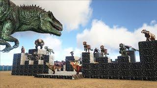 Giganotosaurus VS ARK Dinosaur Fortress | Cantex