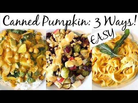 Easy Canned Pumpkin Recipes! Pasta, Curry, Salad | Samantha Jane