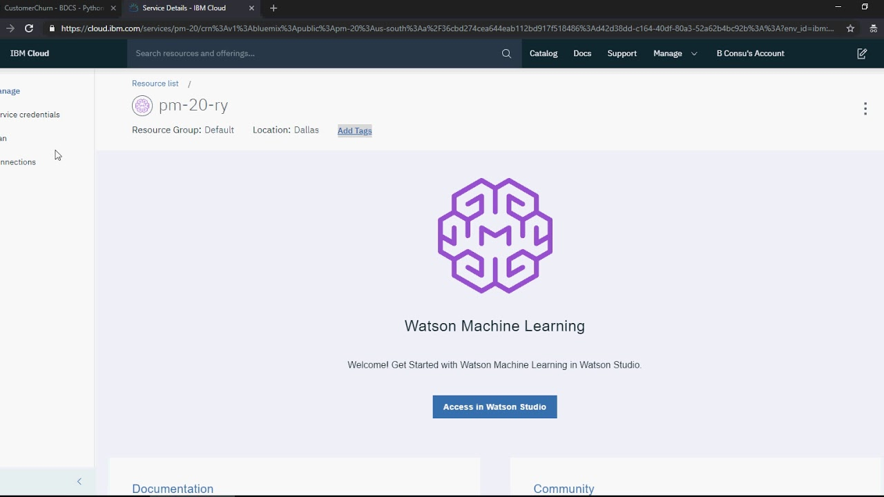 IBM Watson Studio Predictive Analytics - Customer Churn Analysis - Part -6