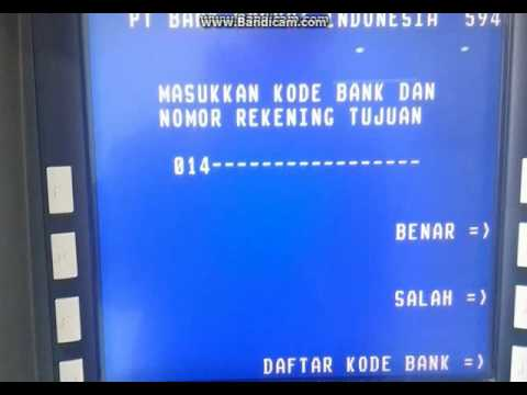Cara Transfer Via Atm Bri Ke Bca Youtube