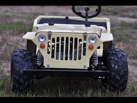 110cc 150cc Kids Mini Jeep Willys In Factory Youtube