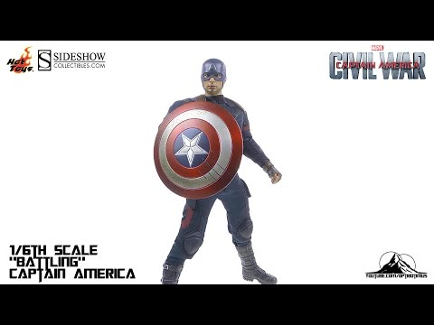 "Hot Toys Captain America Civil War ""Battling"" CAPTAIN AMERICA Video Review"