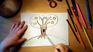 Рисунок для детей от 3 лет / Рисуем быстро и просто. Как нарисовать дерево