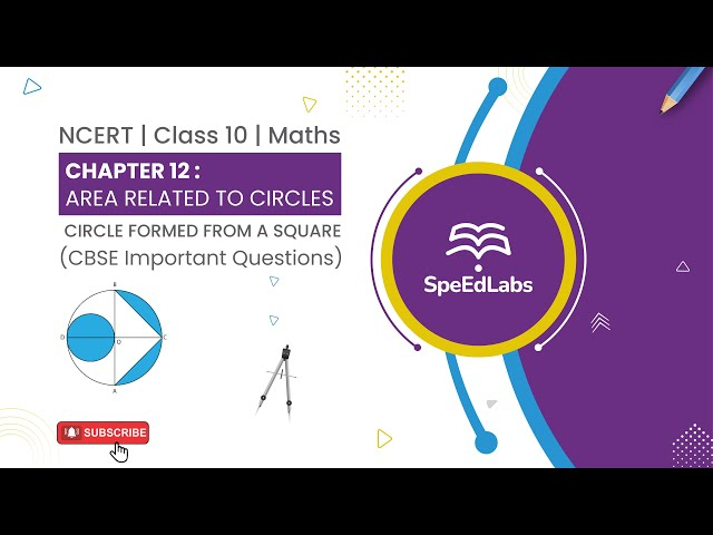 NCERT Class 10 Maths Chapter 12 : Area related to Circle | Circle formed from a Square