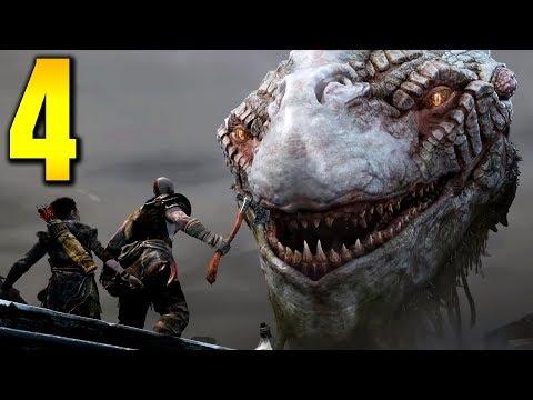 """GOD OF WAR 4 - Part 4 """"WORLD SERPENT"""" (Gameplay/Walkthrough)"""