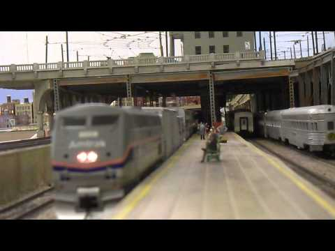 HO scale Amtrak Mail Train at Orlando Society of Model Railroaders