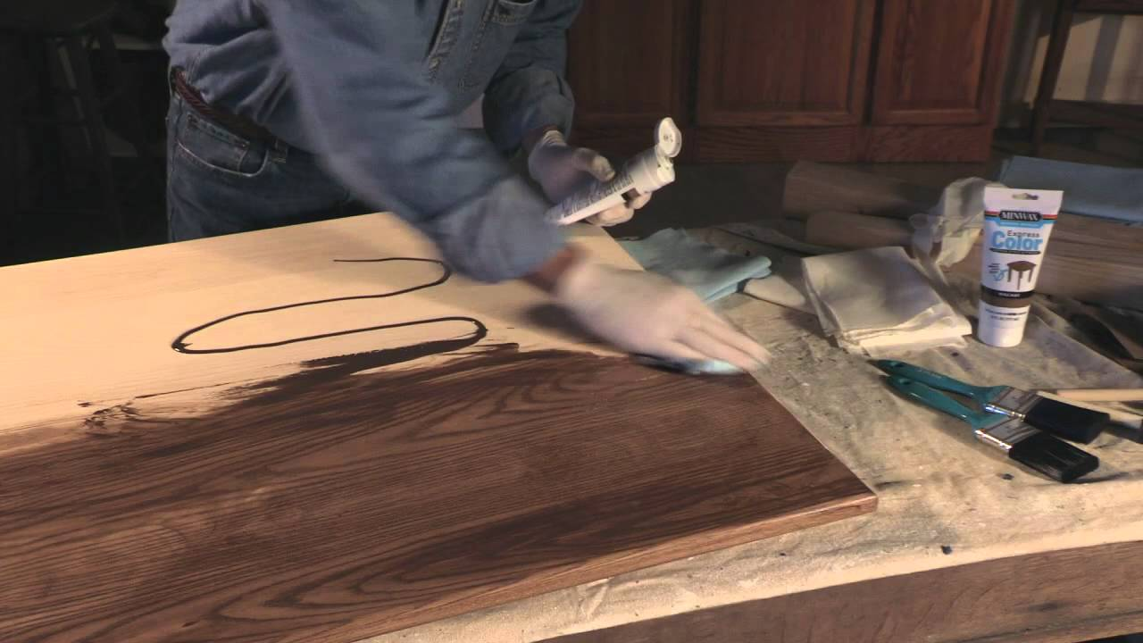 Use Minwax Express Color Wiping Stain