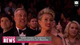 Adele rompio su grammy para compartirlo con Beyonce