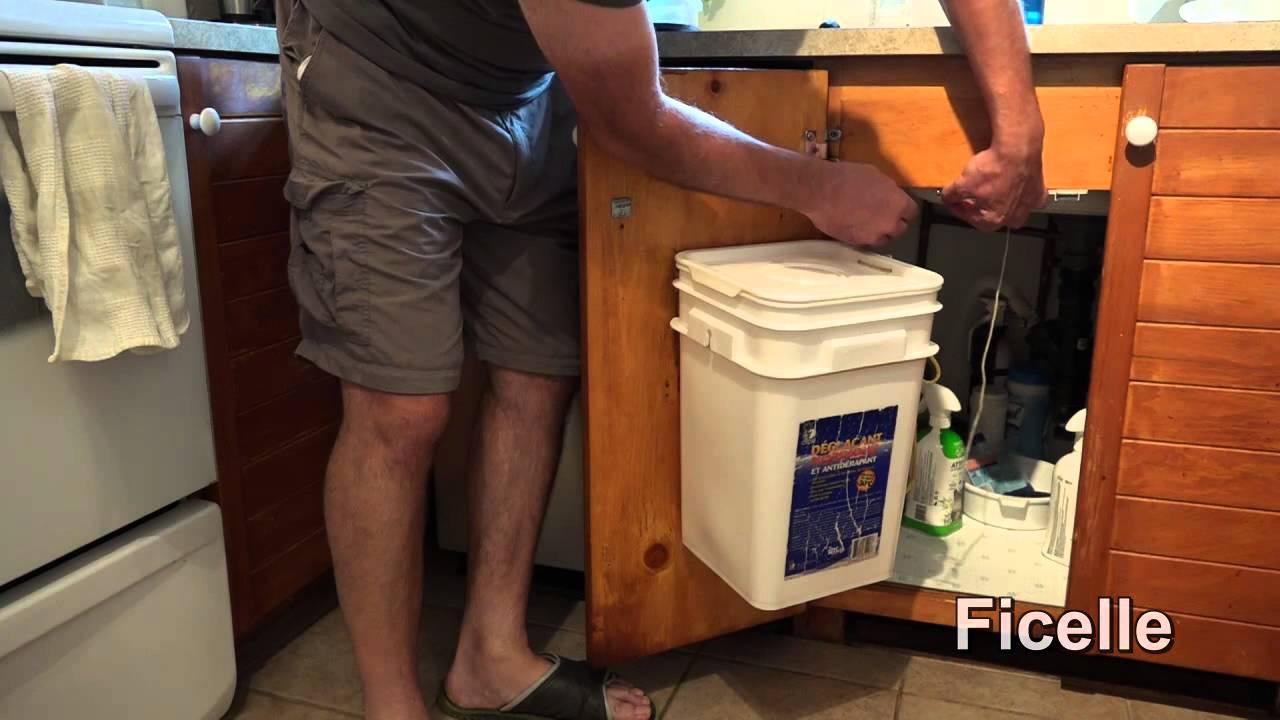 bricolage poubelle de cuisine a ouverture automatique