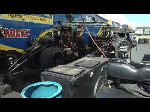 Inside the Pits at Summit Motorsports Park - Norwalk, Ohio during NHRA Nationals