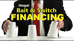 """Bait & Switch"" Auto Dealer Financing Tricks - Dealership Loan Tricks (How to buy a vehicle 2018)"