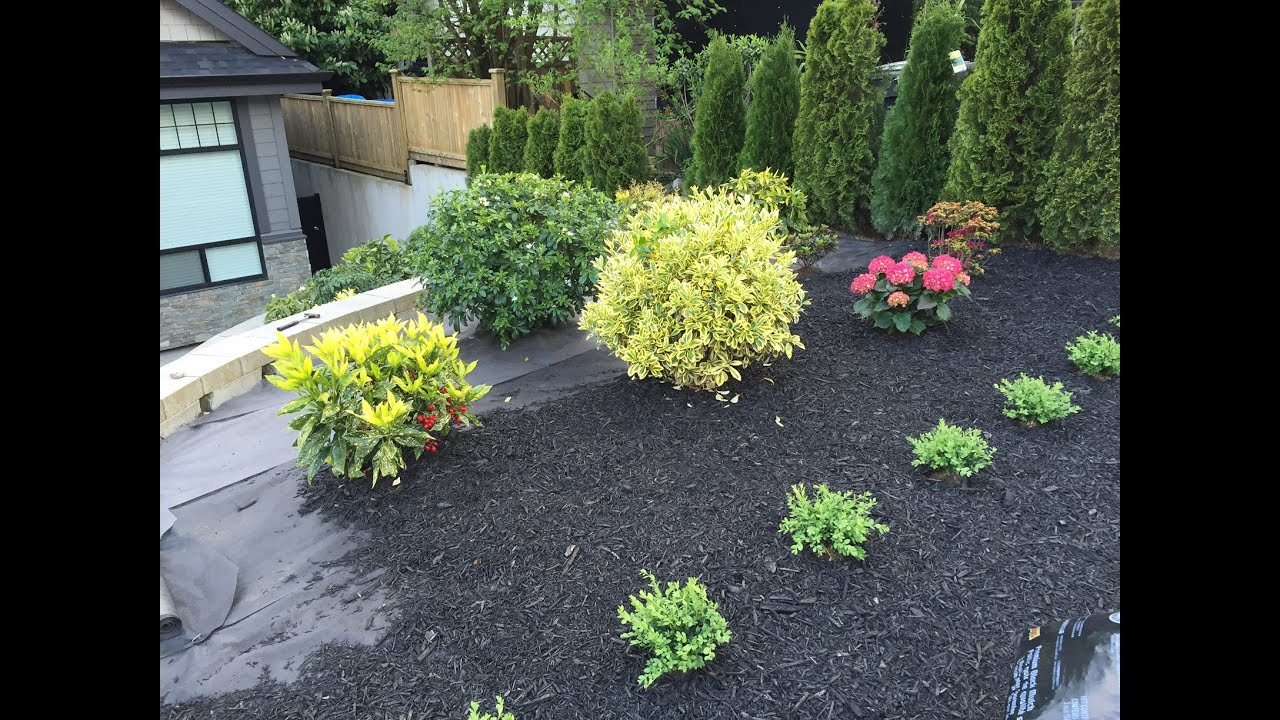 Dark Mulch Landscaping At Home Depot