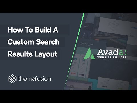 How To Build A Custom Search Results Layout Video