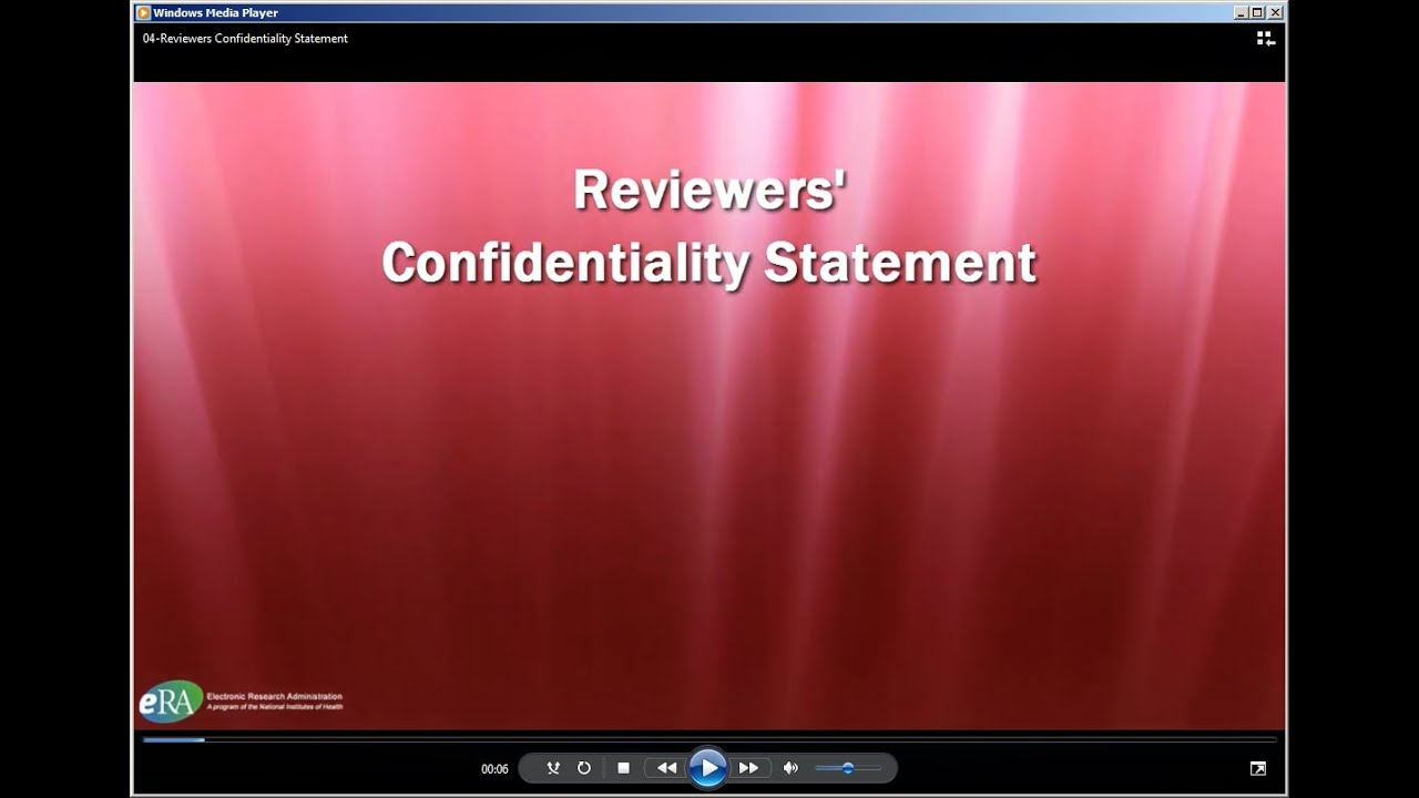 Confidentiality Statement   YouTube