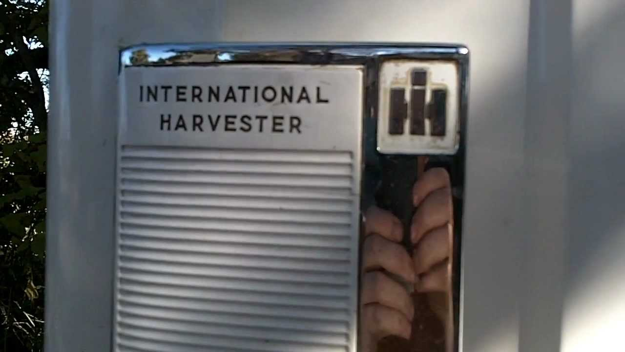 International Harvester Refrigerator : International harvester fridge youtube