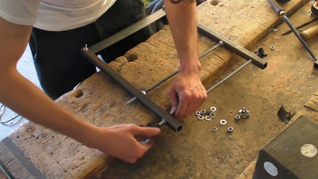 Homemade Metal Bow Saw Youtube