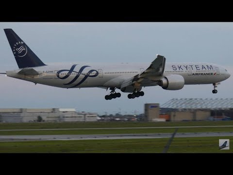 [4K] 10+ Minutes of Heavy Arrivals - Montreal-Trudeau (YUL) RWY 24R