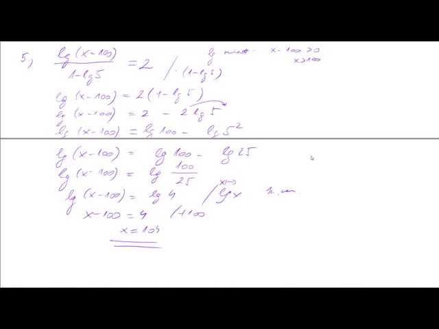 11. o.  Logaritmikus egyenletek