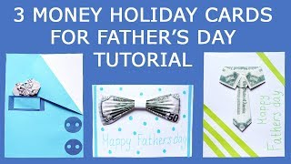 3 Money HOLIDAY CARDS for Father's day | Craft Ideas Gift Tutorial DIY