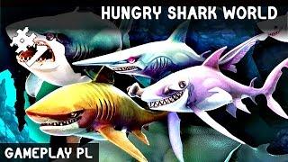 HUNGRY SHARK WORLD PO POLSKU #1 | GŁODNY REKIN!