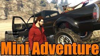 GTA 5 | Mini Adventure | Sandking Hauling a Dirt Bike to the Jump Spot