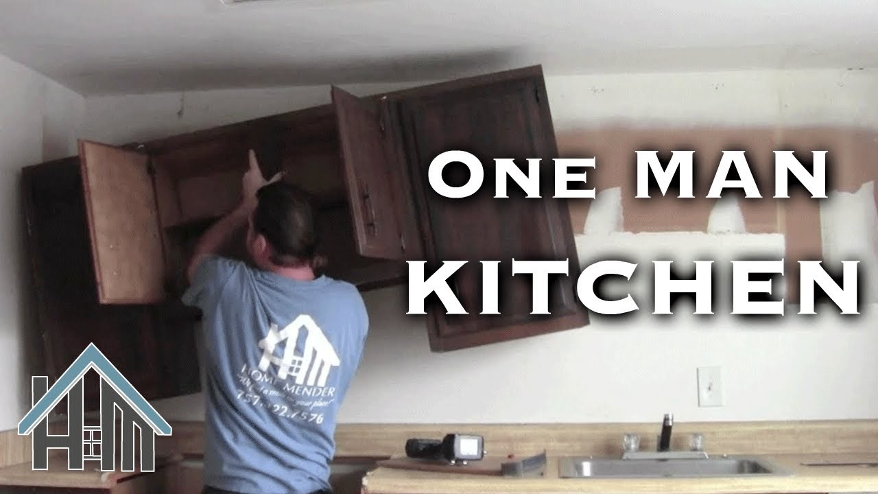 install replace kitchen cabinets by yourself easy home mender youtube. Black Bedroom Furniture Sets. Home Design Ideas