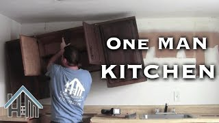 Install Replace Kitchen Cabinets By Yourself Easy Home Mender