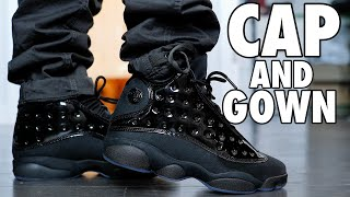 AIR JORDAN 13 CAP AND GOWN REVIEW AND ON FOOT !!!