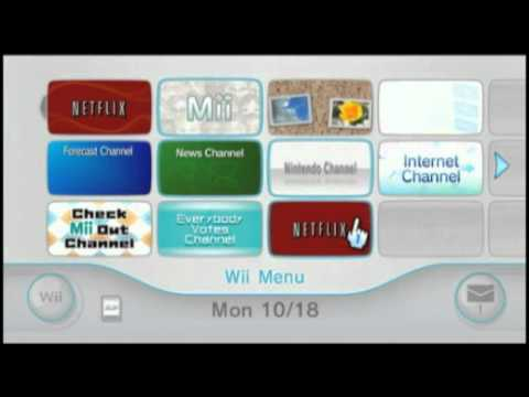 Netflix on the Wii  No Disc Required 10182010 Update