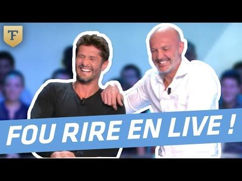 Le fou rire de Bixente Lizarazu et Frank Leboeuf sur le plateau de Téléfoot, l'After !