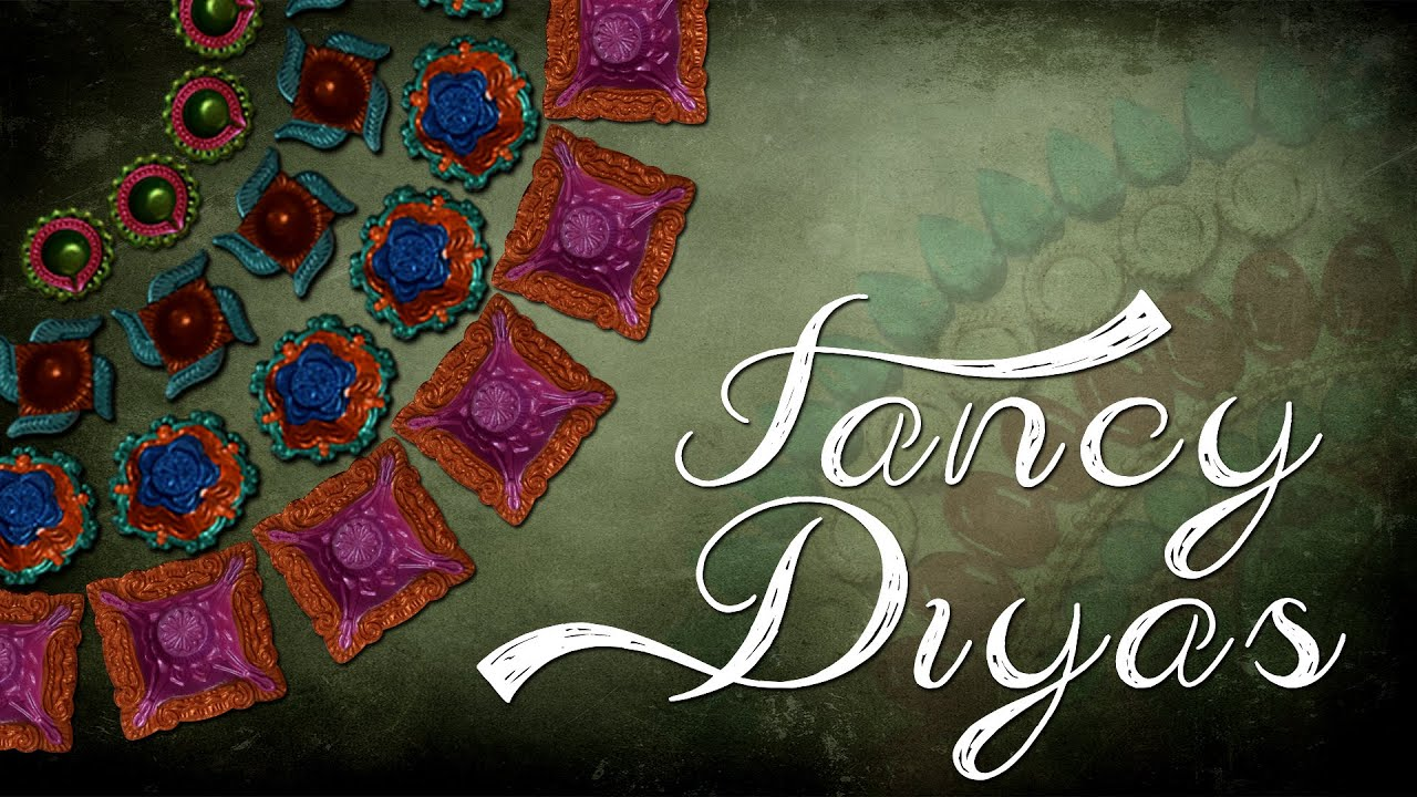 Diy diyas simple diwali diyas diyas decoration youtube for Diya decoration youtube