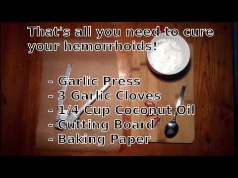 Hemorrhoids Home Remedy: Suppository Recipe to Rapidly Cure Piles (Coconut Oil + Garlic)