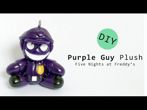Five Nights at Freddy's Purple Guy Plush Polymer Clay Tutorial