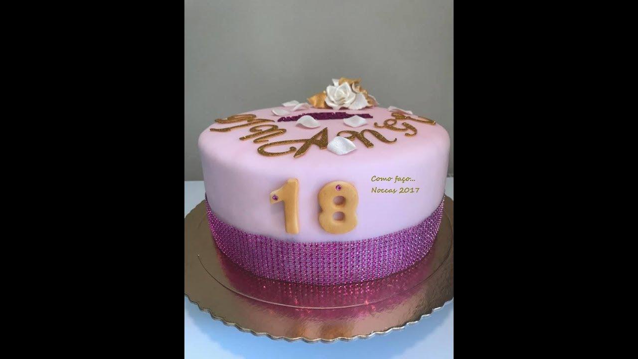 """Bolo De 100 Anos: Bolo Aniversário """" 18 Anos"""""""