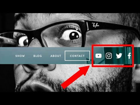 Squarespace - How To Get Social Media Icons In Header