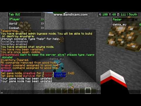 MeffGaming - Minecraft Admin Commands.