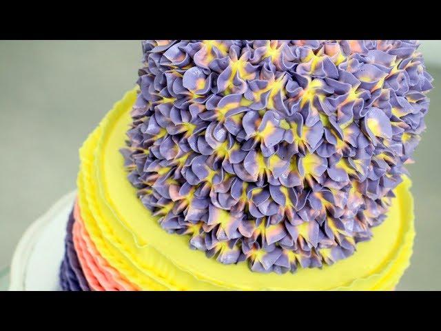 How to make a BUTTERCREAM HYDRANGEA CAKE by Cakes StepbyStep