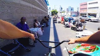 riding bmx in skid row 2 sketchy
