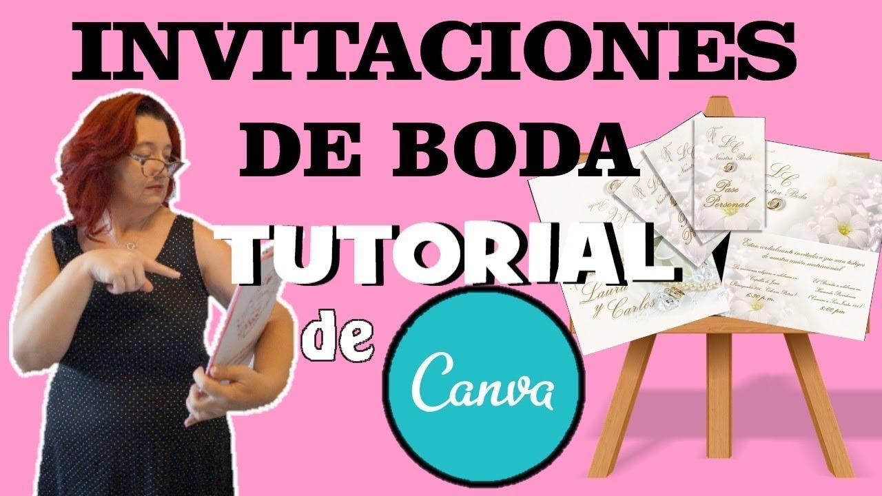 Tutorial Canva 2019 Invitaciones De Boda