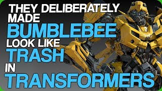 They Deliberately Made Bumblebee Look Like Trash in Transformers (Shia LaBeouf yelling at skeletons)