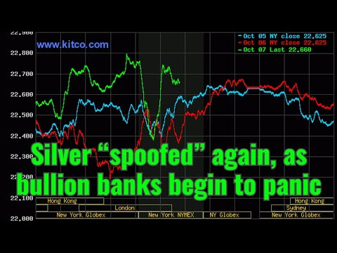 """Silver """"spoofed"""" again, as bullion banks begin to panic"""