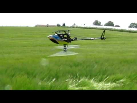RC-Helicopter making crop circles