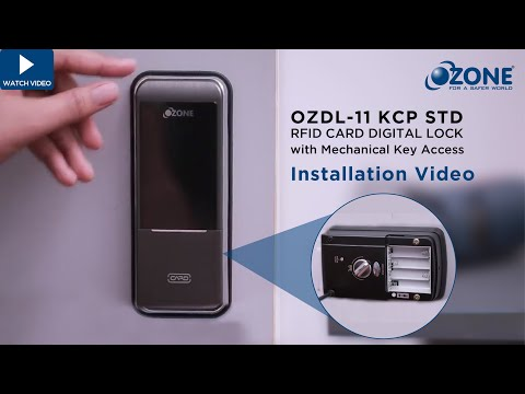 RFID Card Door Lock with Mechanical Key - OZDL-11-KCP STD Installation Guide