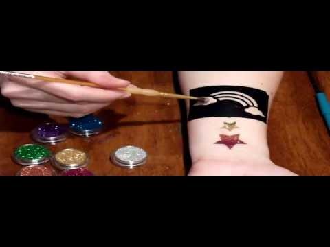 Glitter Tattoo Tutorial
