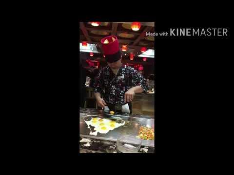 👨🍳 Teppanyaki Restaurant show on Costa ship 🍛